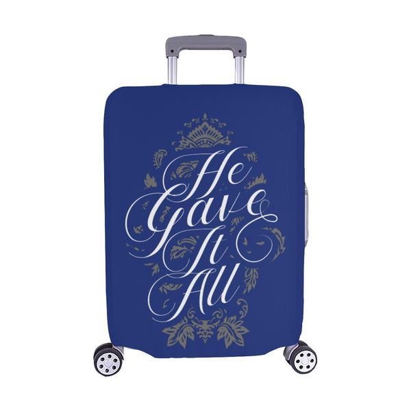 He Gave It All Christian Travel Luggage Cover Suitcase Protector Fits 18-28 Inch-M-Navy-JoyHip.Com