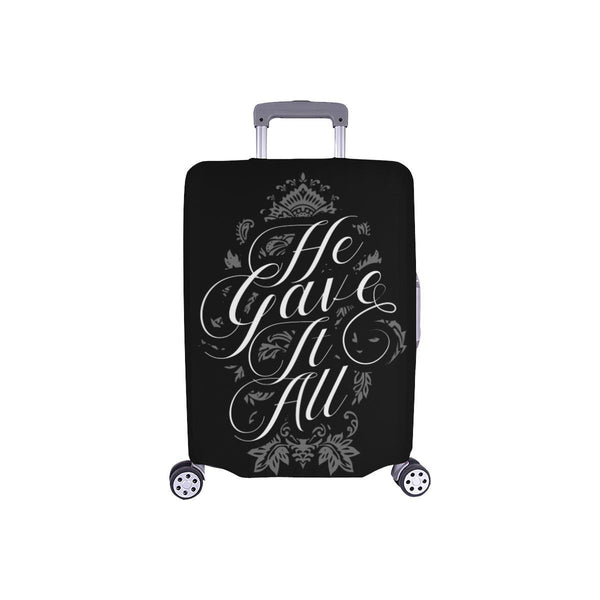 He Gave It All Christian Travel Luggage Cover Suitcase Protector Fits 18-28 Inch-S-Black-JoyHip.Com
