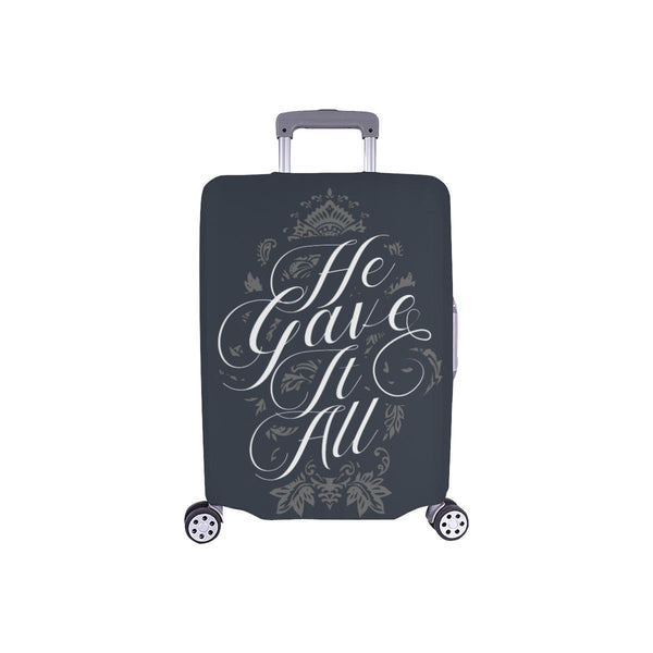 He Gave It All Christian Travel Luggage Cover Suitcase Protector Fits 18-28 Inch-S-Grey-JoyHip.Com