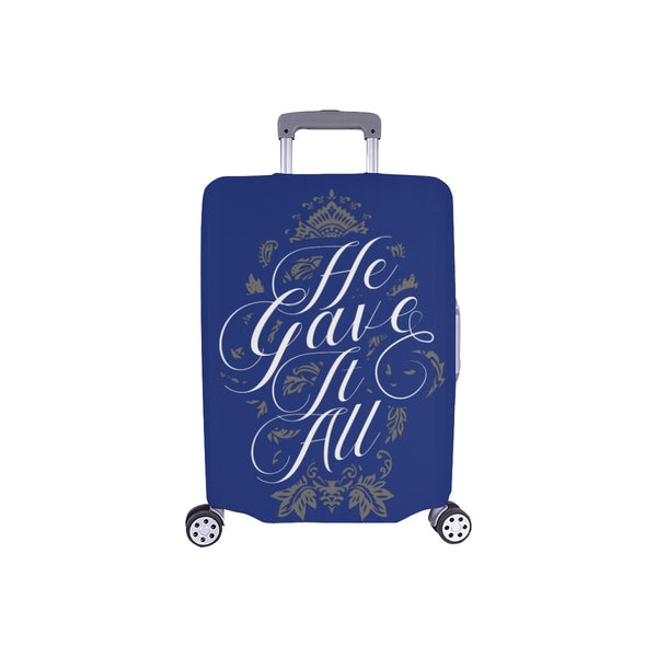 He Gave It All Christian Travel Luggage Cover Suitcase Protector Fits 18-28 Inch-S-Navy-JoyHip.Com