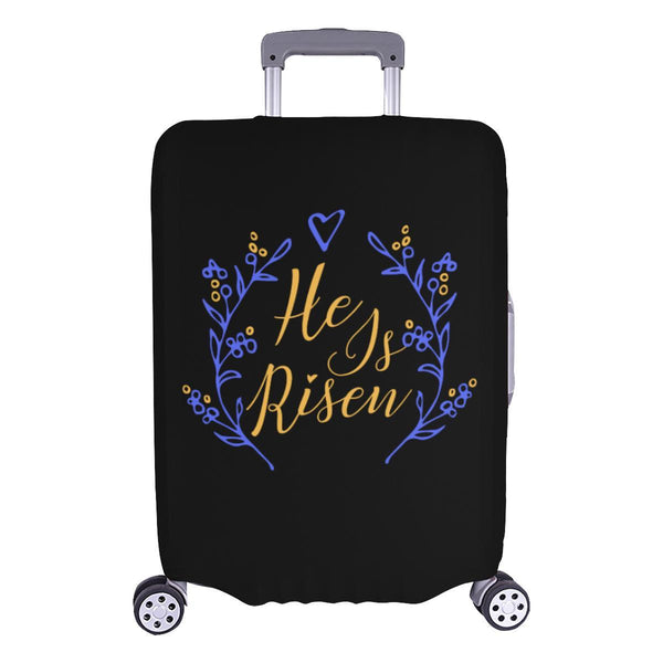 He Is Risen Christian Travel Luggage Cover Suitcase Protector Fits 18-28 Inch-L-Black-JoyHip.Com