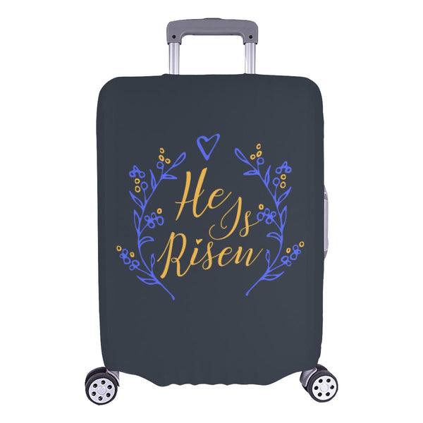 He Is Risen Christian Travel Luggage Cover Suitcase Protector Fits 18-28 Inch-L-Grey-JoyHip.Com