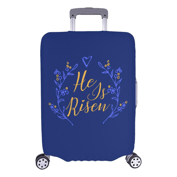 He Is Risen Christian Travel Luggage Cover Suitcase Protector Fits 18-28 Inch-L-Navy-JoyHip.Com
