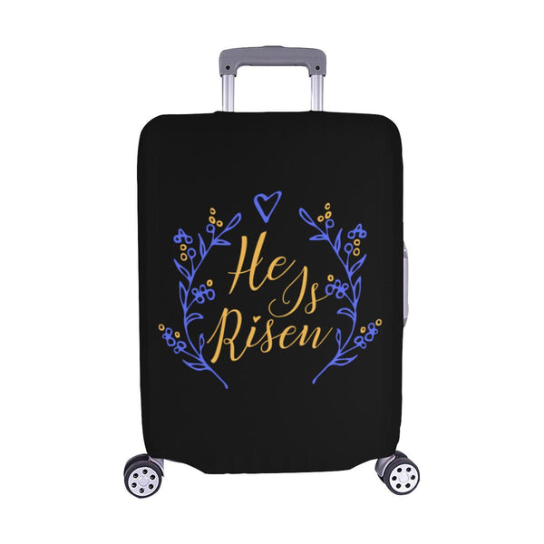 He Is Risen Christian Travel Luggage Cover Suitcase Protector Fits 18-28 Inch-M-Black-JoyHip.Com