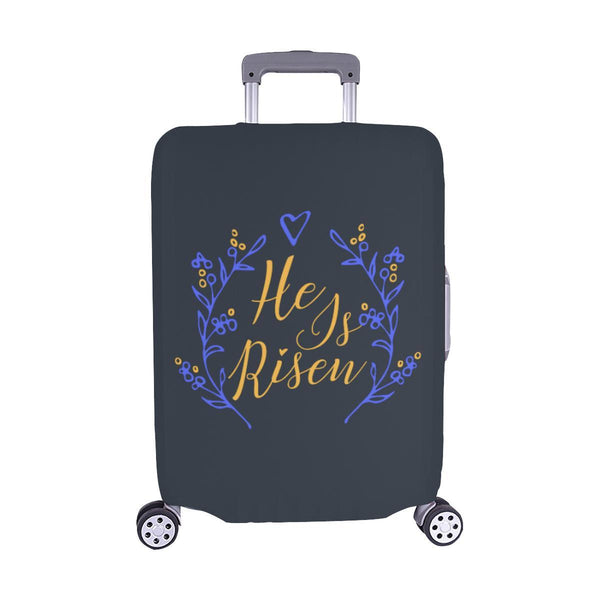 He Is Risen Christian Travel Luggage Cover Suitcase Protector Fits 18-28 Inch-M-Grey-JoyHip.Com