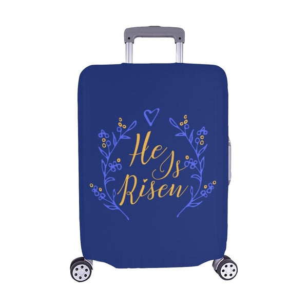 He Is Risen Christian Travel Luggage Cover Suitcase Protector Fits 18-28 Inch-M-Navy-JoyHip.Com