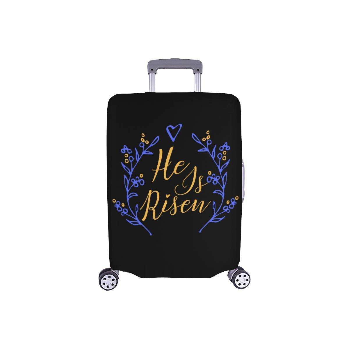 He Is Risen Christian Travel Luggage Cover Suitcase Protector Fits 18-28 Inch-S-Black-JoyHip.Com