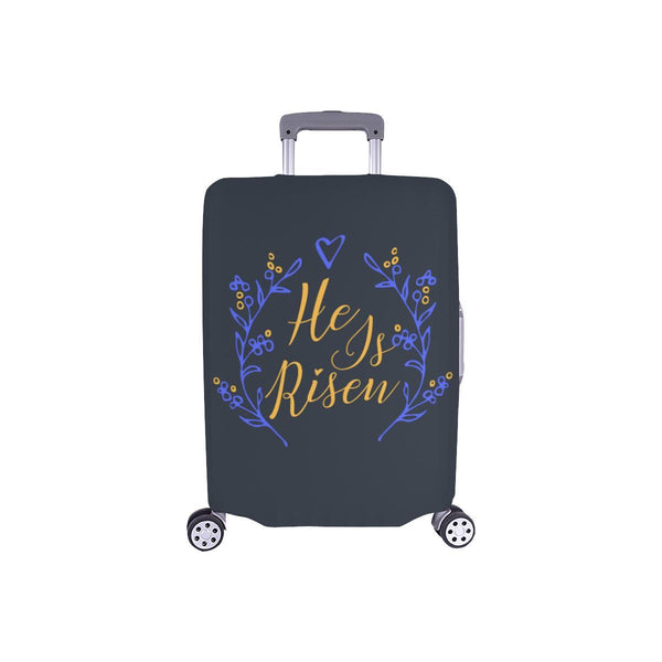 He Is Risen Christian Travel Luggage Cover Suitcase Protector Fits 18-28 Inch-S-Grey-JoyHip.Com