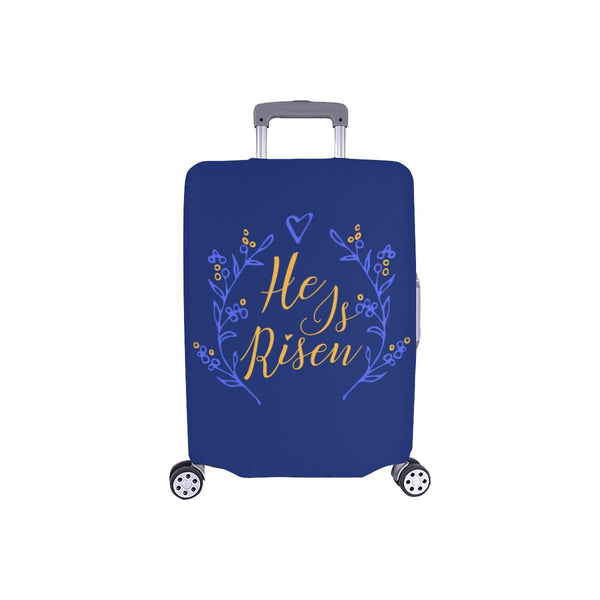 He Is Risen Christian Travel Luggage Cover Suitcase Protector Fits 18-28 Inch-S-Navy-JoyHip.Com