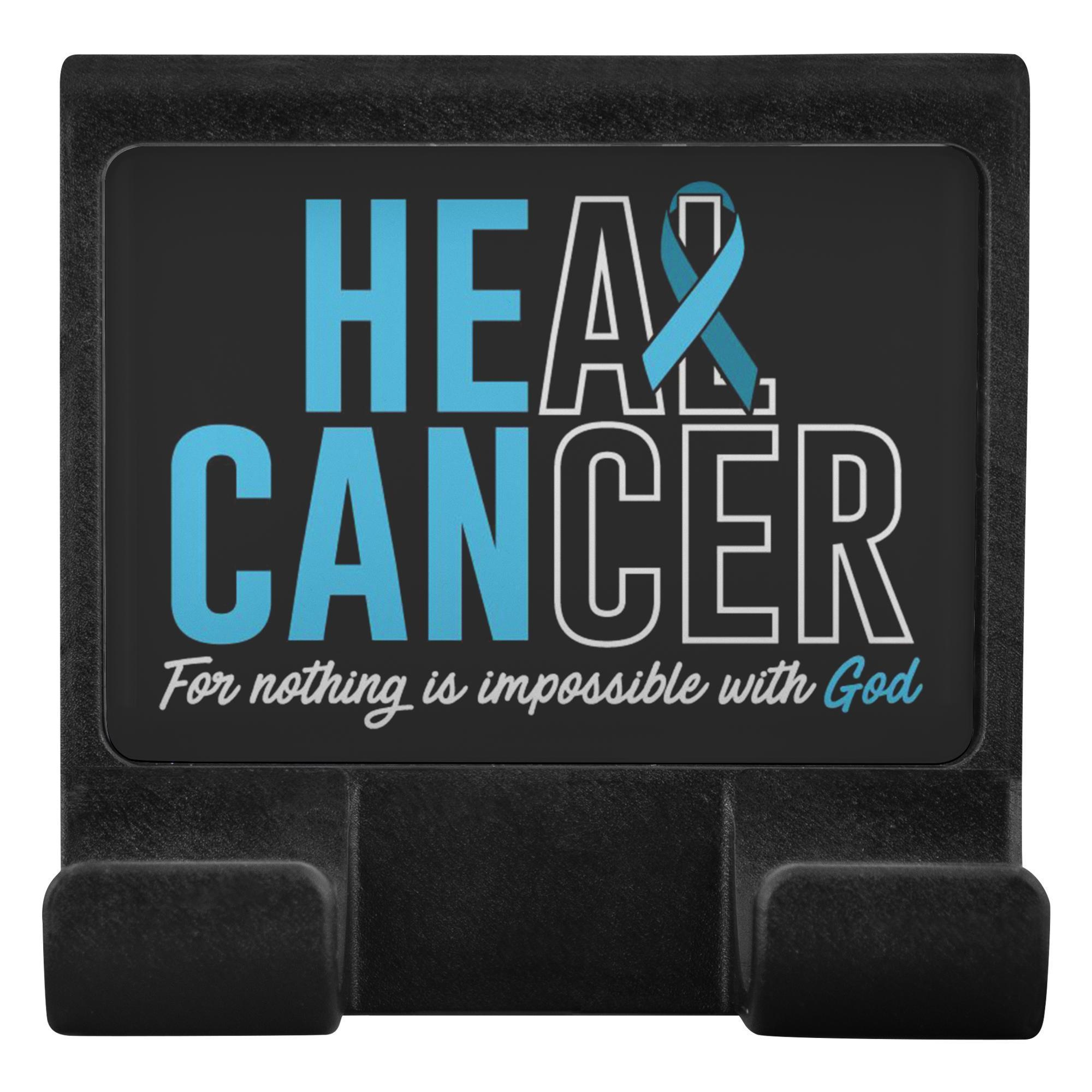 Heal Cancer For Nothing Is Impossible With God Phone Monitor Holder Laptop Gifts-Moniclip-Moniclip-JoyHip.Com