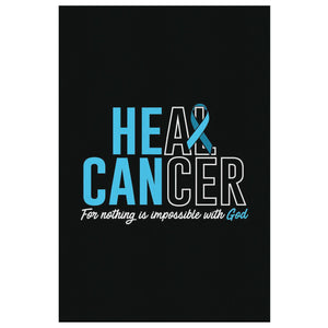 Heal Cancer Nothing Is Impossible With God Canvas Wall Art Room Decor Home Gift-Canvas Wall Art 2-8 x 12-JoyHip.Com