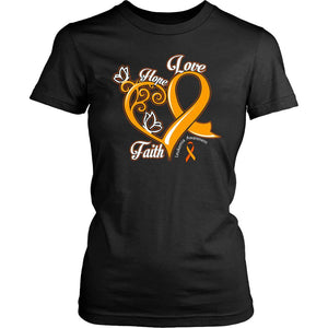 Heart Hope Love Faith Leukemia Awareness Awesome Cool Women T-Shirt-T-shirt-District Womens Shirt-Black-JoyHip.Com
