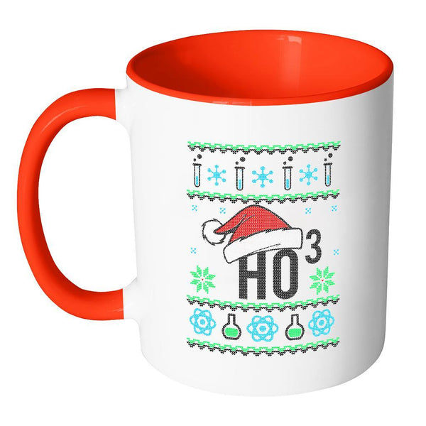 HO3 Hydrogen Trioxide Chemistry Science Funny Ugly Christmas Sweater 11oz Accent Coffee Mug (7 Colors)-Drinkware-JoyHip.Com