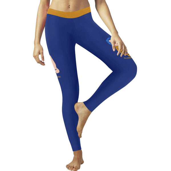 Hope Bladder Cancer Awareness Blue Yellow Purple Ribbon Soft Leggings For Women-JoyHip.Com