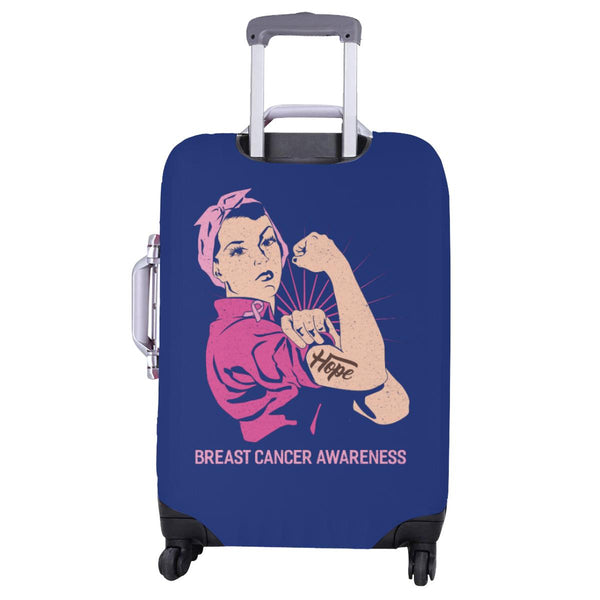 "Hope Breast Cancer Awareness Travel Luggage Cover Suitcase Protector 18""-28""-JoyHip.Com"