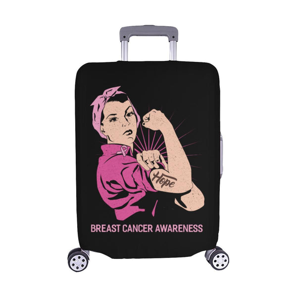 "Hope Breast Cancer Awareness Travel Luggage Cover Suitcase Protector 18""-28""-M-Black-JoyHip.Com"