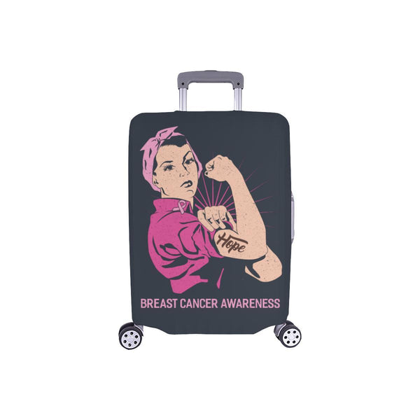 "Hope Breast Cancer Awareness Travel Luggage Cover Suitcase Protector 18""-28""-S-Grey-JoyHip.Com"
