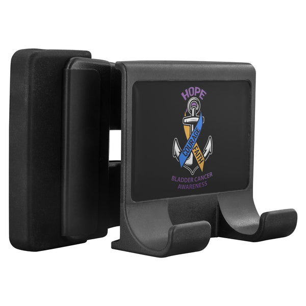 Hope Courage Faith Bladder Cancer Awareness Phone Monitor Holder Laptop Desktop-Moniclip-Moniclip-JoyHip.Com