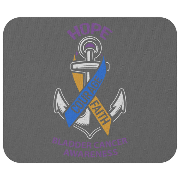 Hope Courage Faith Bladder Cancer Comfort Gift For Chemo Patients Cute Mouse Pad-Mousepads-Grey-JoyHip.Com