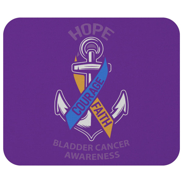 Hope Courage Faith Bladder Cancer Comfort Gift For Chemo Patients Cute Mouse Pad-Mousepads-Purple-JoyHip.Com