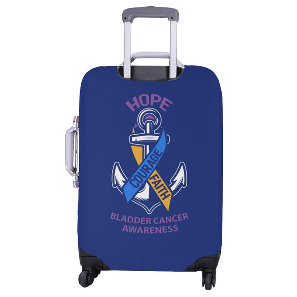Hope Courage Faith Bladder Cancer Travel Luggage Cover Suitcase Protector-JoyHip.Com