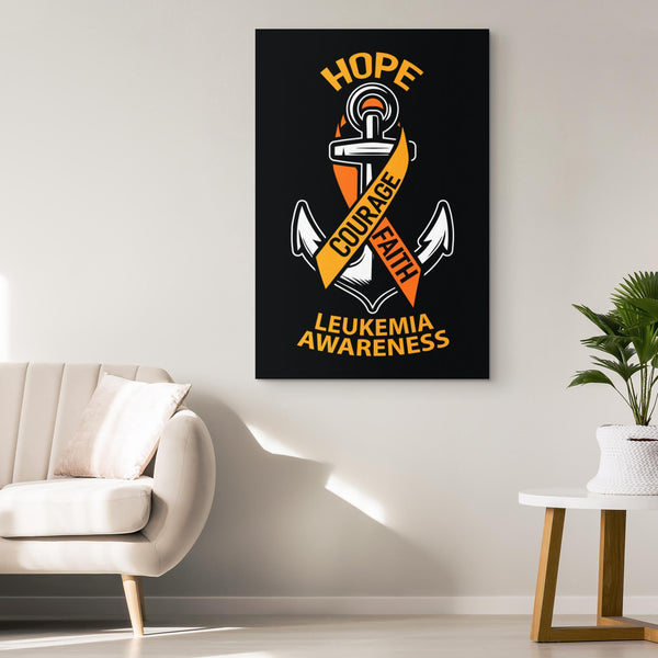 Hope Courage Faith Blue Yellow Purple Bladder Cancer Canvas Wall Art Home Room-Canvas Wall Art 2-JoyHip.Com