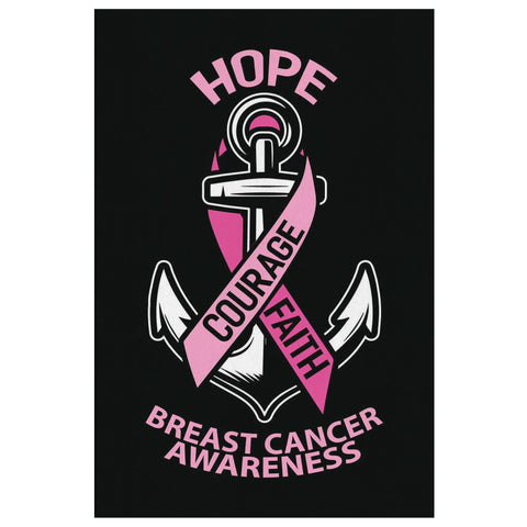 Hope Courage Faith Pink Breast Cancer Awareness Canvas Wall Art Home Room Decors-Canvas Wall Art 2-8 x 12-JoyHip.Com