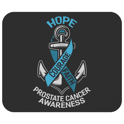 Hope Courage Faith Prostate Cancer Awareness Mouse Pad Gifts Ideas MousePad-Mousepads-Black-JoyHip.Com