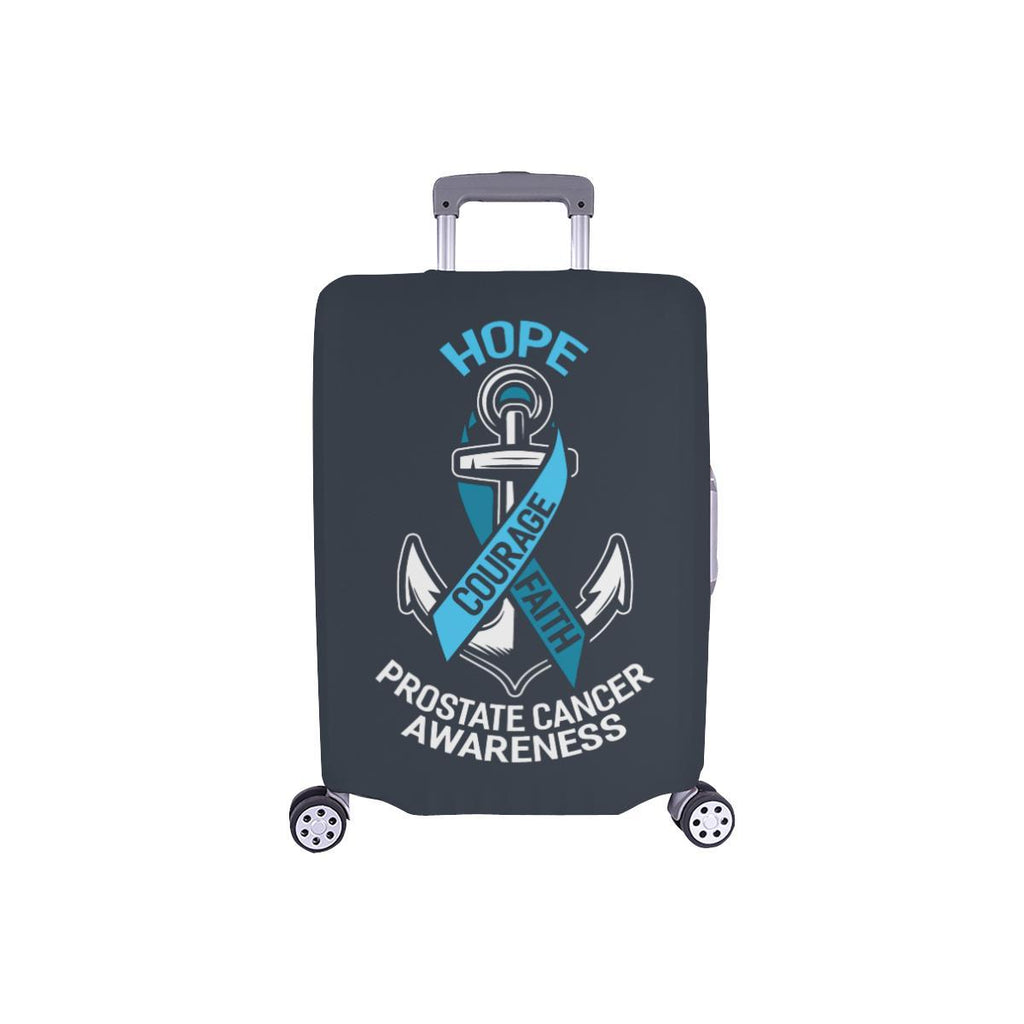 Travel Luggage Cover White Ship Anchors Navy Suitcase Protector