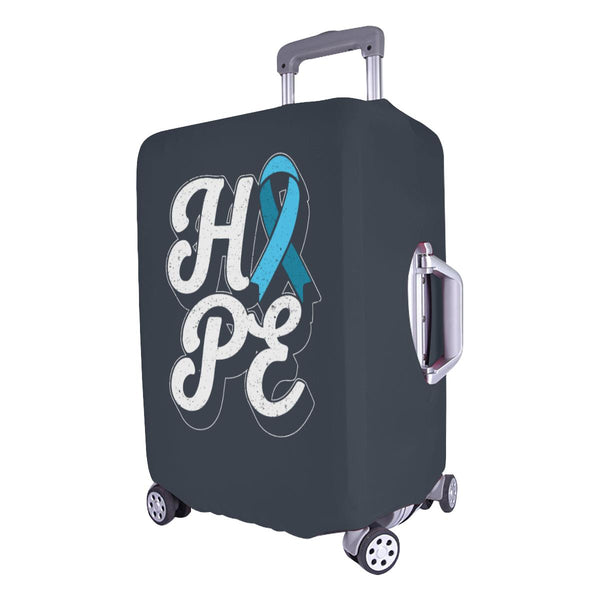 "Hope Light Blue Ribbon Travel Luggage Cover Suitcase Protector 18""-28"" Baggage-JoyHip.Com"
