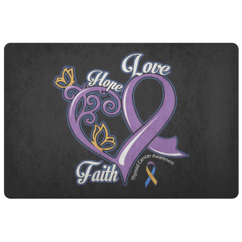Hope Love Faith Bladder Cancer Awareness 18X26 Thin Indoor Door Mat Entryway Rug-Doormat-Black-JoyHip.Com