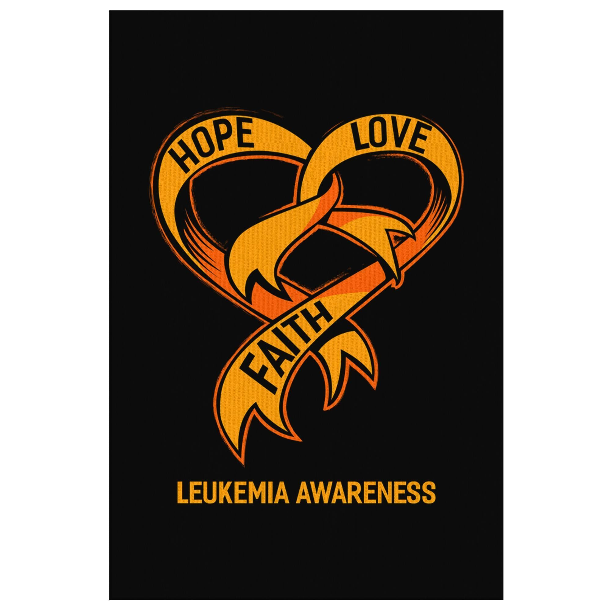 Hope Love Faith Bladder Cancer Awareness Canvas Wall Art Room Decor Home Gifts-Canvas Wall Art 2-8 x 12-JoyHip.Com