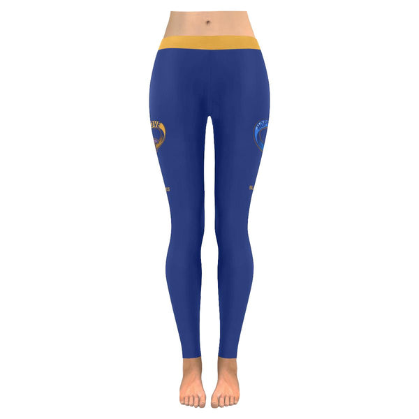 Hope Love Faith Bladder Cancer Blue Yellow Purple Women Leggings For Women-JoyHip.Com
