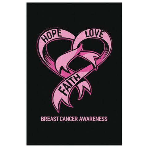 Hope Love Faith Breast Cancer Awareness Canvas Wall Art Room Decor Home Gifts-Canvas Wall Art 2-8 x 12-JoyHip.Com
