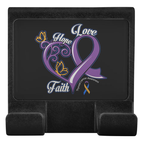 Hope Love Faith Elegant Bladder Cancer Awareness Phone Monitor Holder Laptop-Moniclip-Moniclip-JoyHip.Com