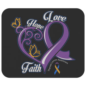 Hope Love Faith Elegant Bladder Cancer Comfort Gifts For Chemo Patients Mouse Pad-Mousepads-Black-JoyHip.Com