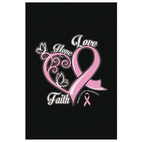 Hope Love Faith Elegant Breast Cancer Awareness Canvas Wall Art Room Decor Gifts-Canvas Wall Art 2-8 x 12-JoyHip.Com