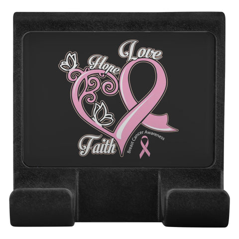 Hope Love Faith Elegant Breast Cancer Awareness Phone Monitor Holder Laptop-Moniclip-Moniclip-JoyHip.Com