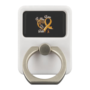 Hope Love Faith Elegant Leukemia Cancer Awareness Phone Ring Holder Kickstand-Ringr - Multi-Tool Accessory-Ringr - Multi-Tool Accessory-JoyHip.Com