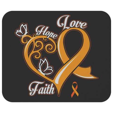 Hope Love Faith Elegant Leukemia Cancer Comfort Gift For Chemo Patient Mouse Pad-Mousepads-Black-JoyHip.Com