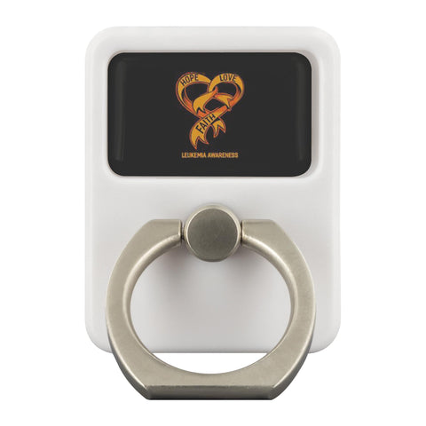 Hope Love Faith Leukemia Cancer Awareness Phone Ring Holder Kickstand Gifts Idea-Ringr - Multi-Tool Accessory-Ringr - Multi-Tool Accessory-JoyHip.Com
