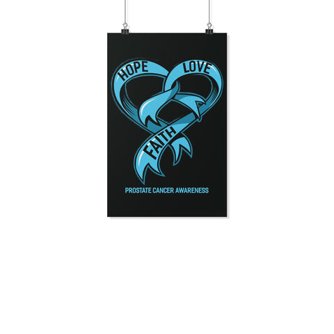 Hope Love Faith Prostate Cancer Awareness Motivational Posters Ideas Wall Decor-Posters 2-11x17-JoyHip.Com