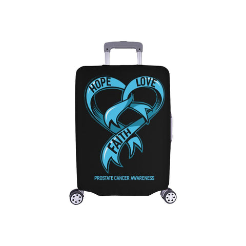 "Hope Love Faith Prostate Cancer Travel Luggage Cover Suitcase Protector 18""-28""-S-Black-JoyHip.Com"