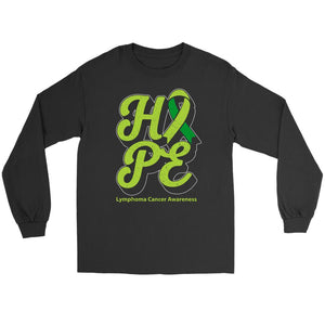 Hope Lymphoma Awareness Lime Green Ribbon Awesome Cool Gift Ideas Long Sleeve-T-shirt-Gildan Long Sleeve Tee-Black-JoyHip.Com