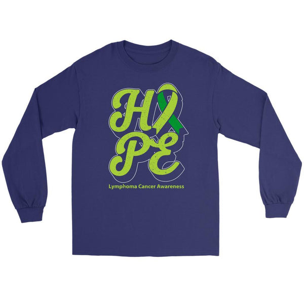 Hope Lymphoma Awareness Lime Green Ribbon Awesome Cool Gift Ideas Long Sleeve-T-shirt-Gildan Long Sleeve Tee-Purple-JoyHip.Com