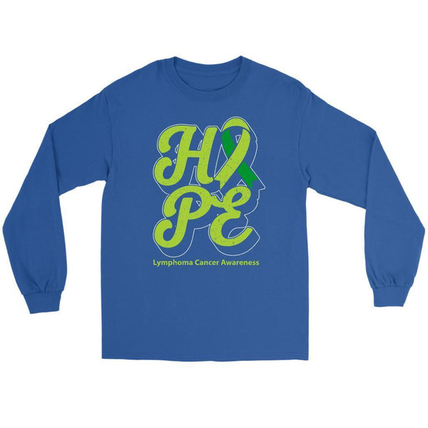 Hope Lymphoma Awareness Lime Green Ribbon Awesome Cool Gift Ideas Long Sleeve-T-shirt-Gildan Long Sleeve Tee-Royal Blue-JoyHip.Com