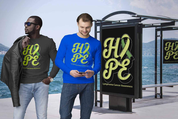 Hope Lymphoma Awareness Lime Green Ribbon Awesome Cool Gift Ideas Sweater-T-shirt-JoyHip.Com
