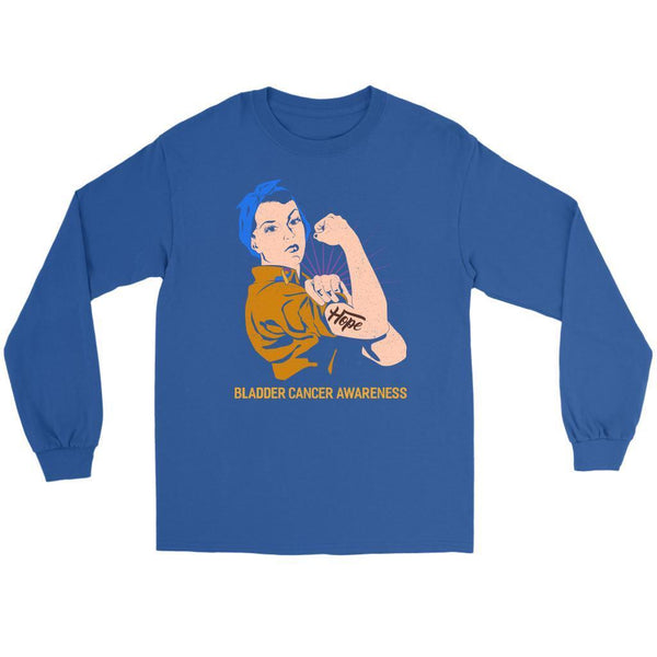Hope We Can Do It Bladder Cancer Awareness Awesome Cool Gift Ideas Long Sleeve-T-shirt-Gildan Long Sleeve Tee-Royal Blue-JoyHip.Com