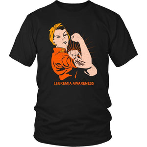 Hope We Can Do It Leukemia Awareness Awesome Cool Men Unisex TShirt-T-shirt-District Unisex Shirt-Black-JoyHip.Com