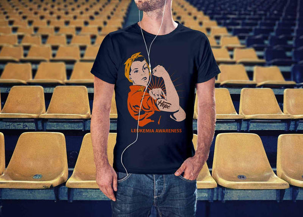 Hope We Can Do It Leukemia Awareness Awesome Cool Men Unisex TShirt-T-shirt-JoyHip.Com